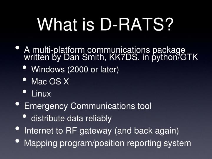 What is d rats