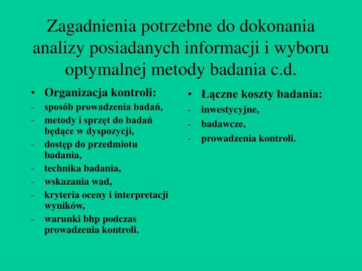 Organizacja kontroli: