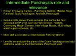 intermediate panchayats role and relevance