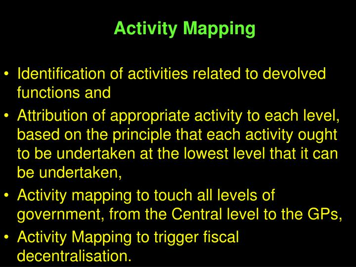 Activity Mapping