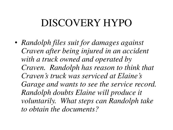 Discovery hypo