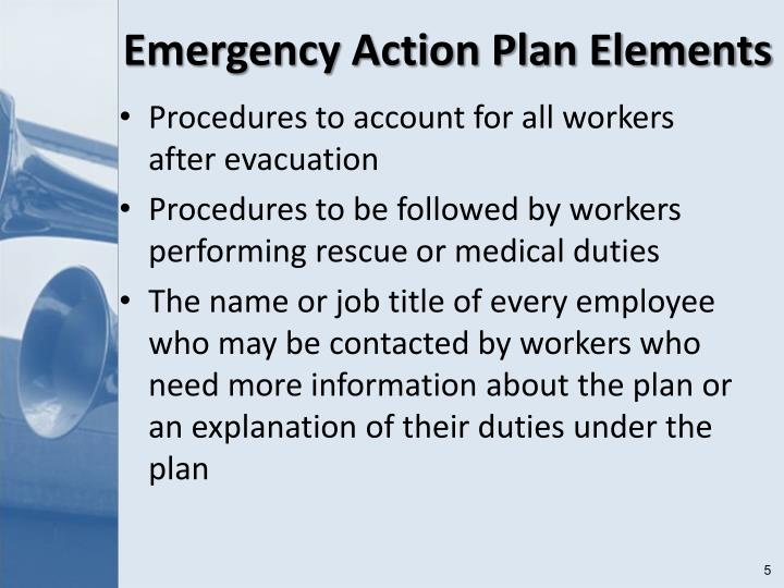 Emergency Action Plan Elements