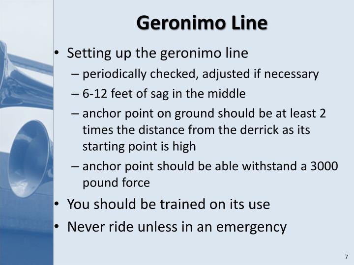 Geronimo Line