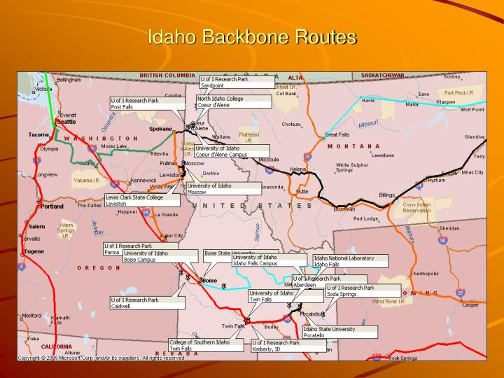 Idaho Backbone Routes