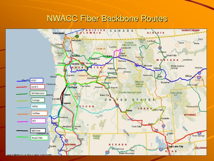 NWACC Fiber Backbone Routes