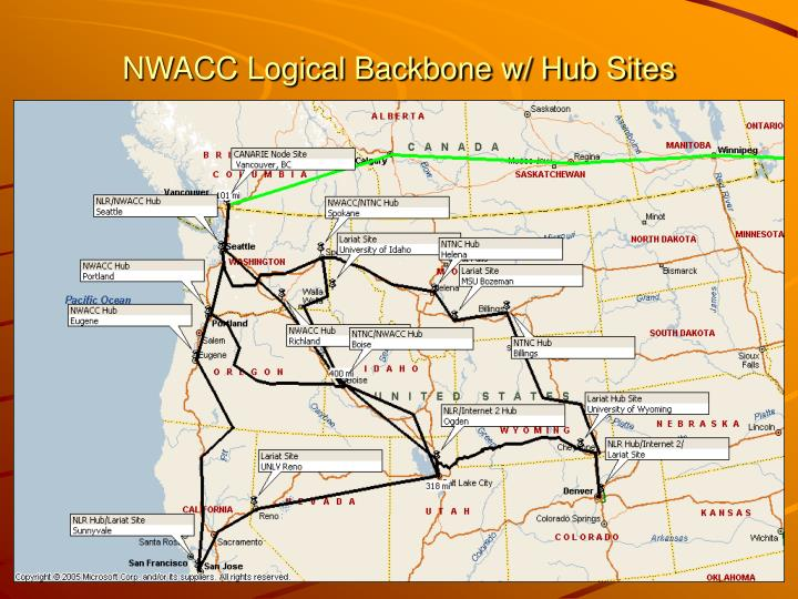 NWACC Logical Backbone w/ Hub Sites