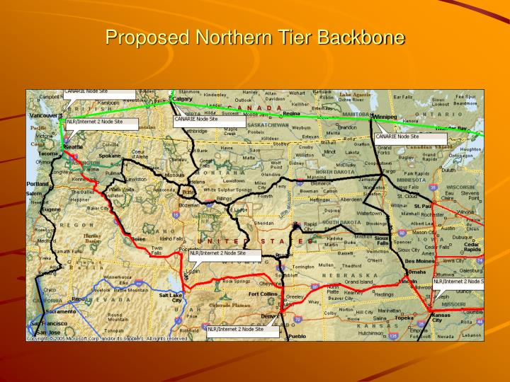 Proposed Northern Tier Backbone