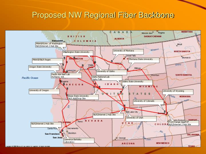 Proposed NW Regional Fiber Backbone