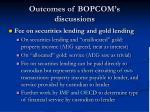 outcomes of bopcom s discussions5
