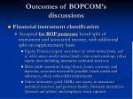 outcomes of bopcom s discussions9
