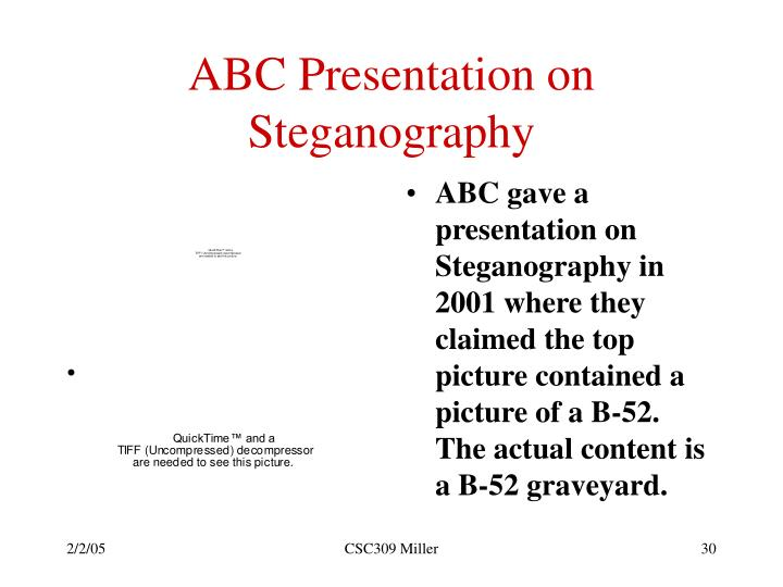ABC Presentation on Steganography