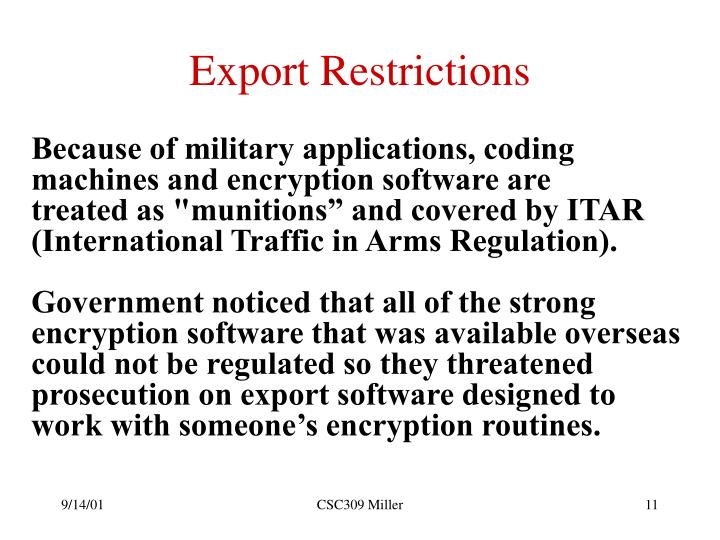 Export Restrictions