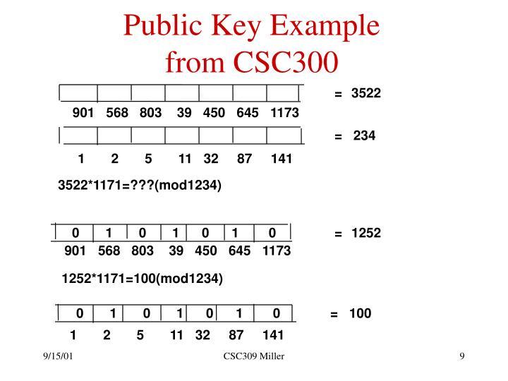 Public Key Example
