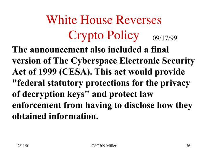 White House Reverses