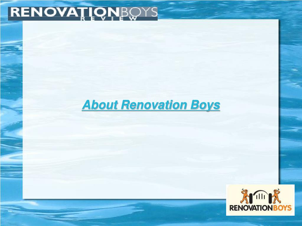 About Renovation Boys