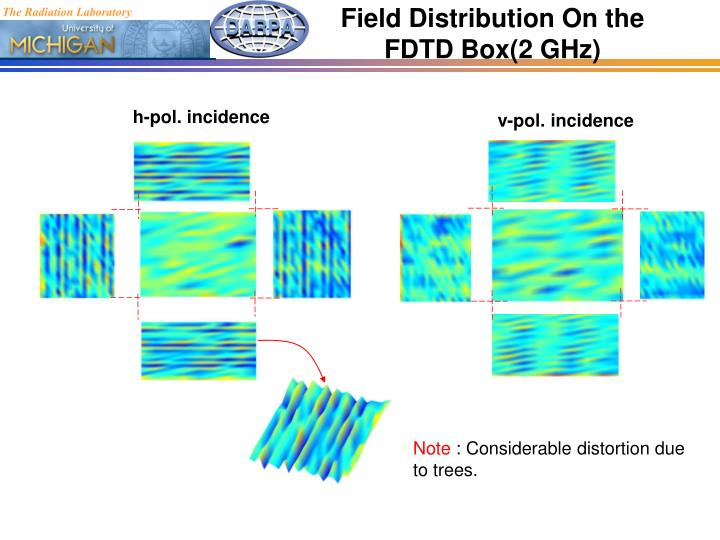 Field Distribution On the FDTD Box(2 GHz)