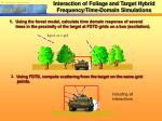 interaction of foliage and target hybrid frequency time domain simulations