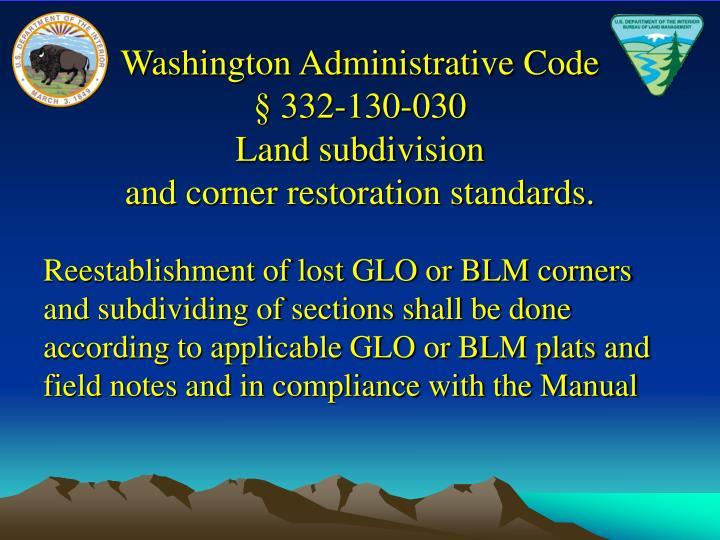 Washington Administrative Code