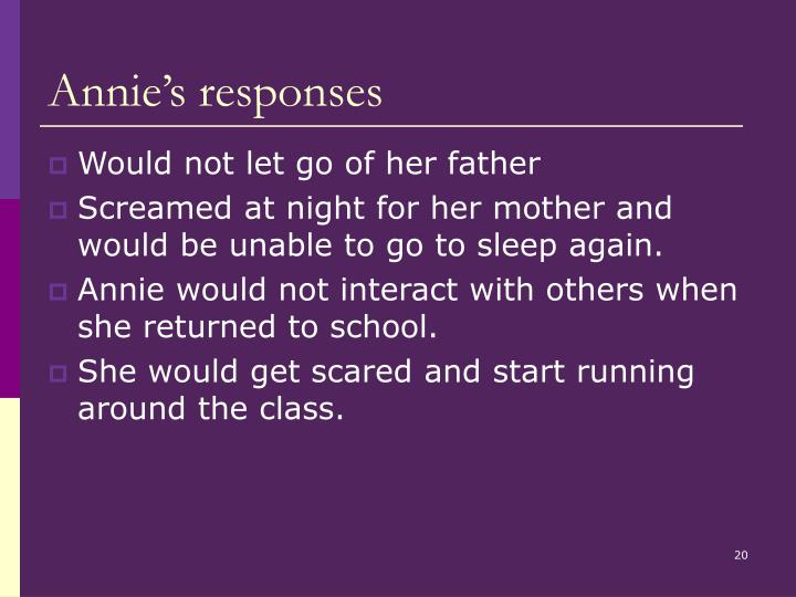 Annie's responses