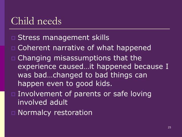 Child needs