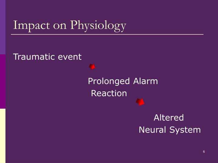 Impact on Physiology