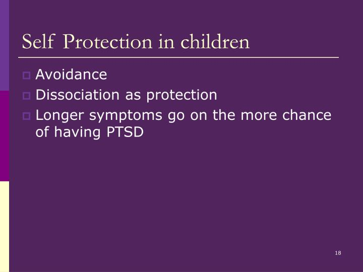 Self Protection in children
