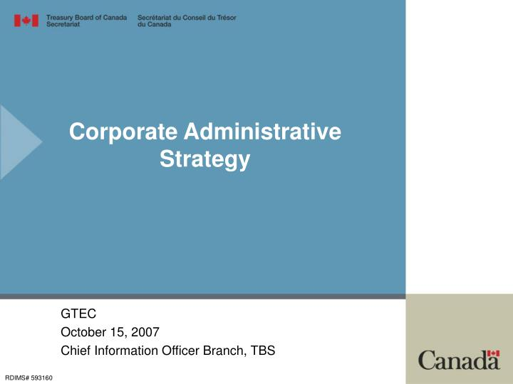 Corporate Administrative Strategy