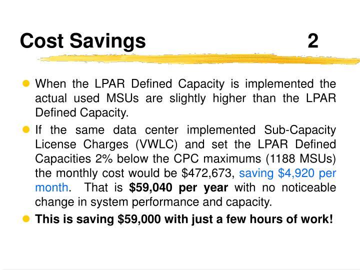 Cost Savings2