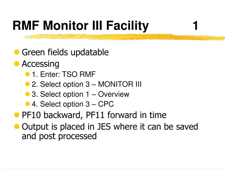 RMF Monitor III Facility1