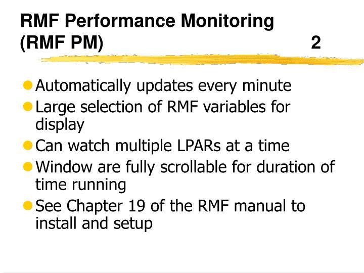 RMF Performance Monitoring