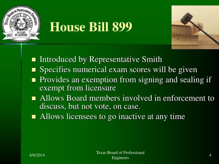 House Bill 899