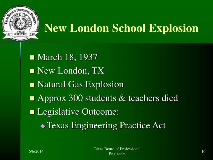 New London School Explosion