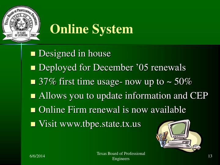 Online System
