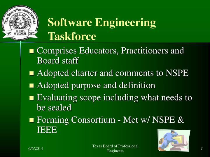 Software Engineering Taskforce