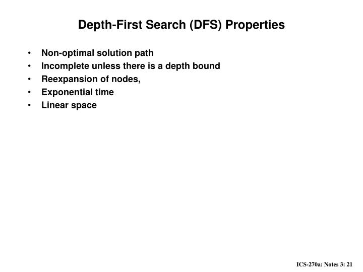 Depth-First Search (DFS) Properties