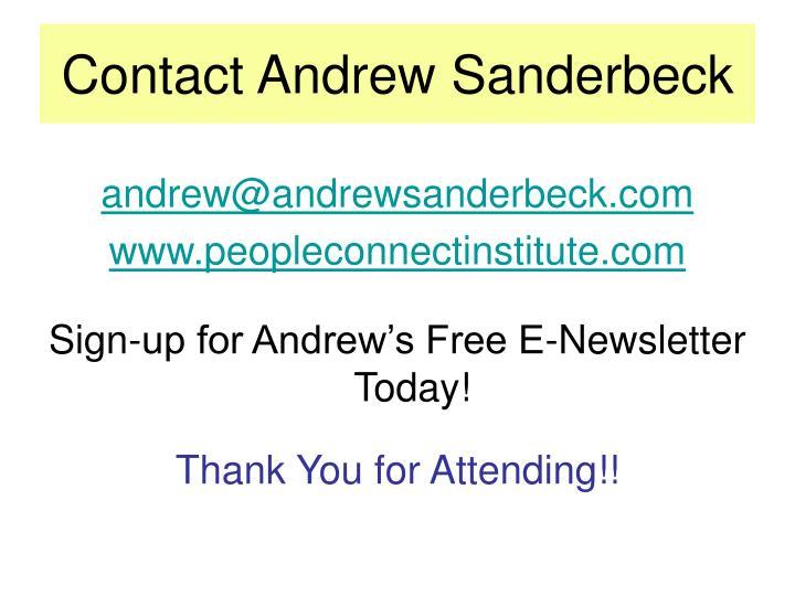 Contact Andrew Sanderbeck