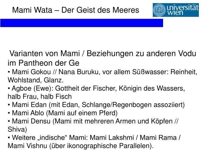 Mami Wata – Der Geist des Meeres