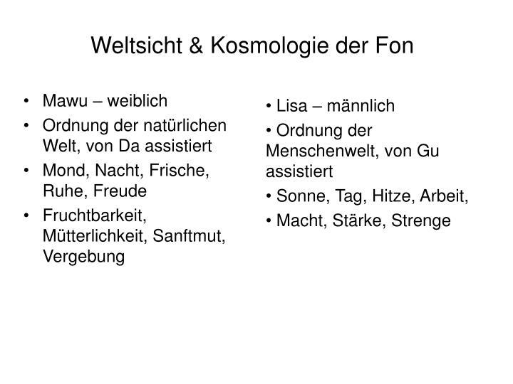 Weltsicht & Kosmologie der Fon