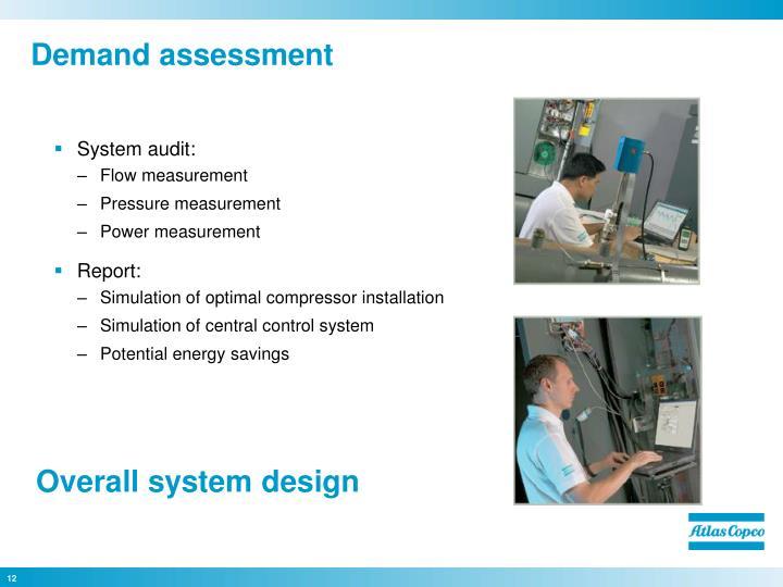 Demand assessment