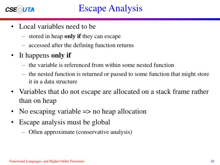 Escape Analysis