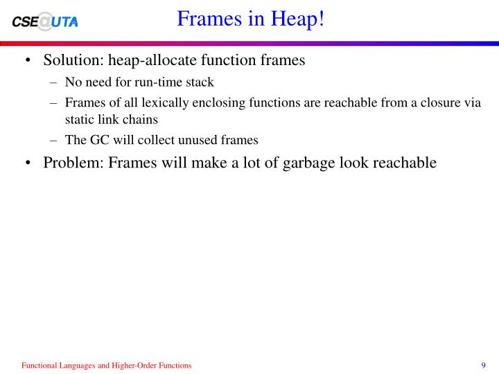 Frames in Heap!