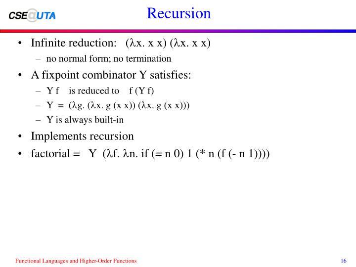 Recursion