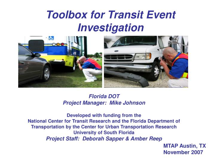 Toolbox for Transit Event Investigation