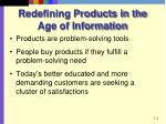 redefining products in the age of information