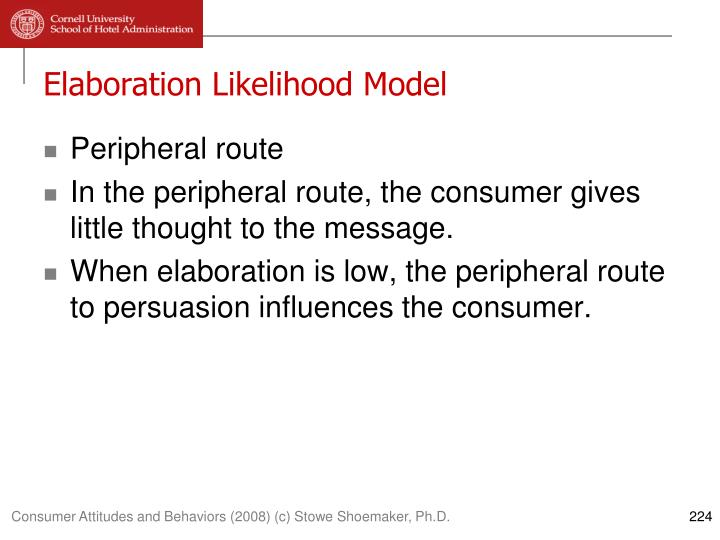 essay elaboration likelihood model Cite this chapter as: petty re, cacioppo jt (1986) the elaboration likelihood model of persuasion in: communication and persuasion springer series in social psychology.