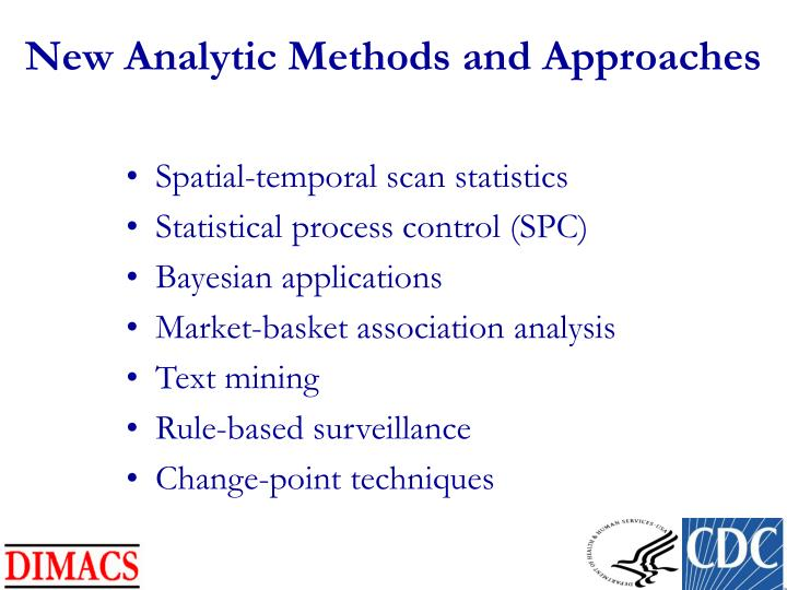 New Analytic Methods and Approaches