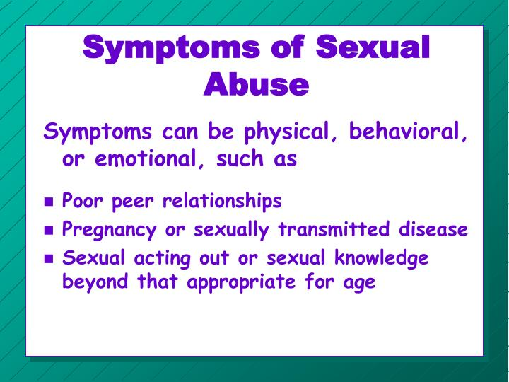 Symptoms of Sexual Abuse