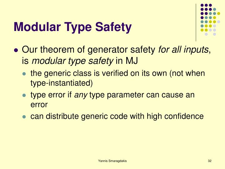 Modular Type Safety