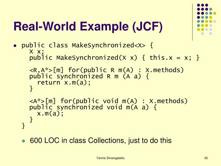 Real-World Example (JCF)