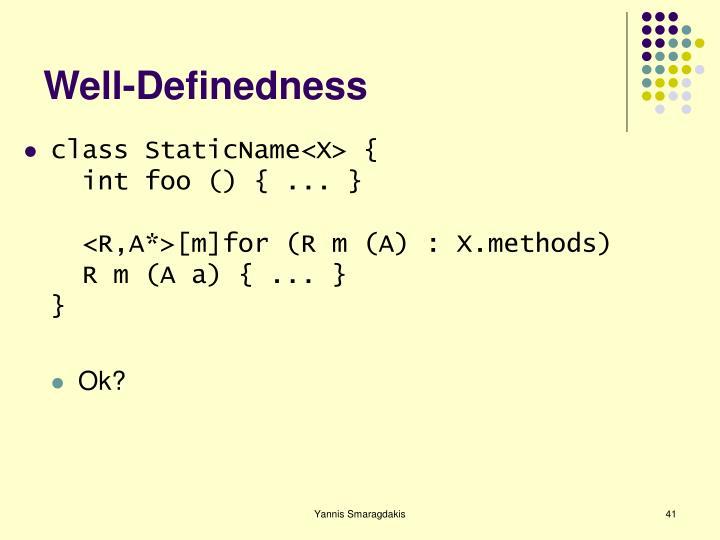 Well-Definedness